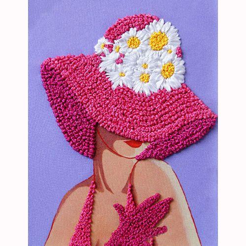 ВЛШС0001 Набор для вышивания лентами Woman-Hobby 'Серия шляпки №1' 18,5*25 см