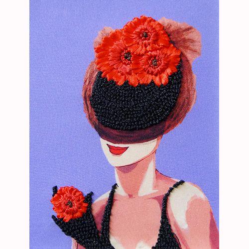 ВЛШС0006 Набор для вышивания лентами Woman-Hobby 'Серия шляпки №6' 18,5*25 см