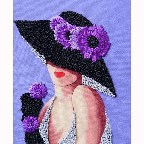 ВЛШС0007 Набор для вышивания лентами Woman-Hobby 'Серия шляпки №7' 18,5*25 см