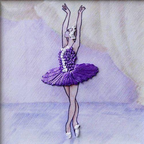ВЛБС0002 Набор для вышивания лентами Woman-Hobby 'Серия Балерины' 13,5*13,5 см