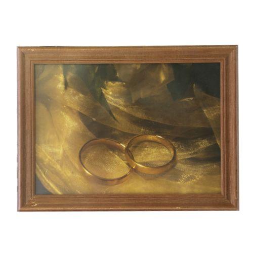 3N57 Рамка деревянная со стеклом, кр. дерево, 13*18 см