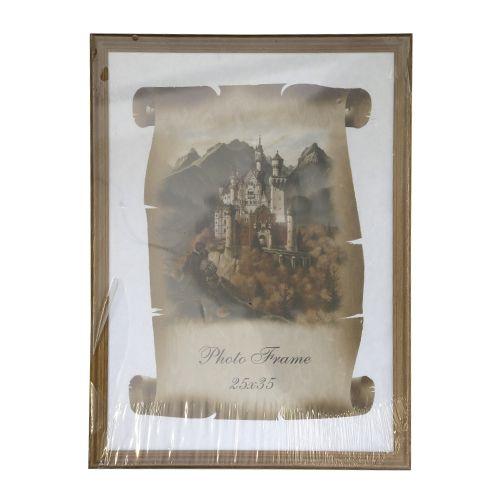 3N04 Рамка деревянная со стеклом, орех, 25*35 см
