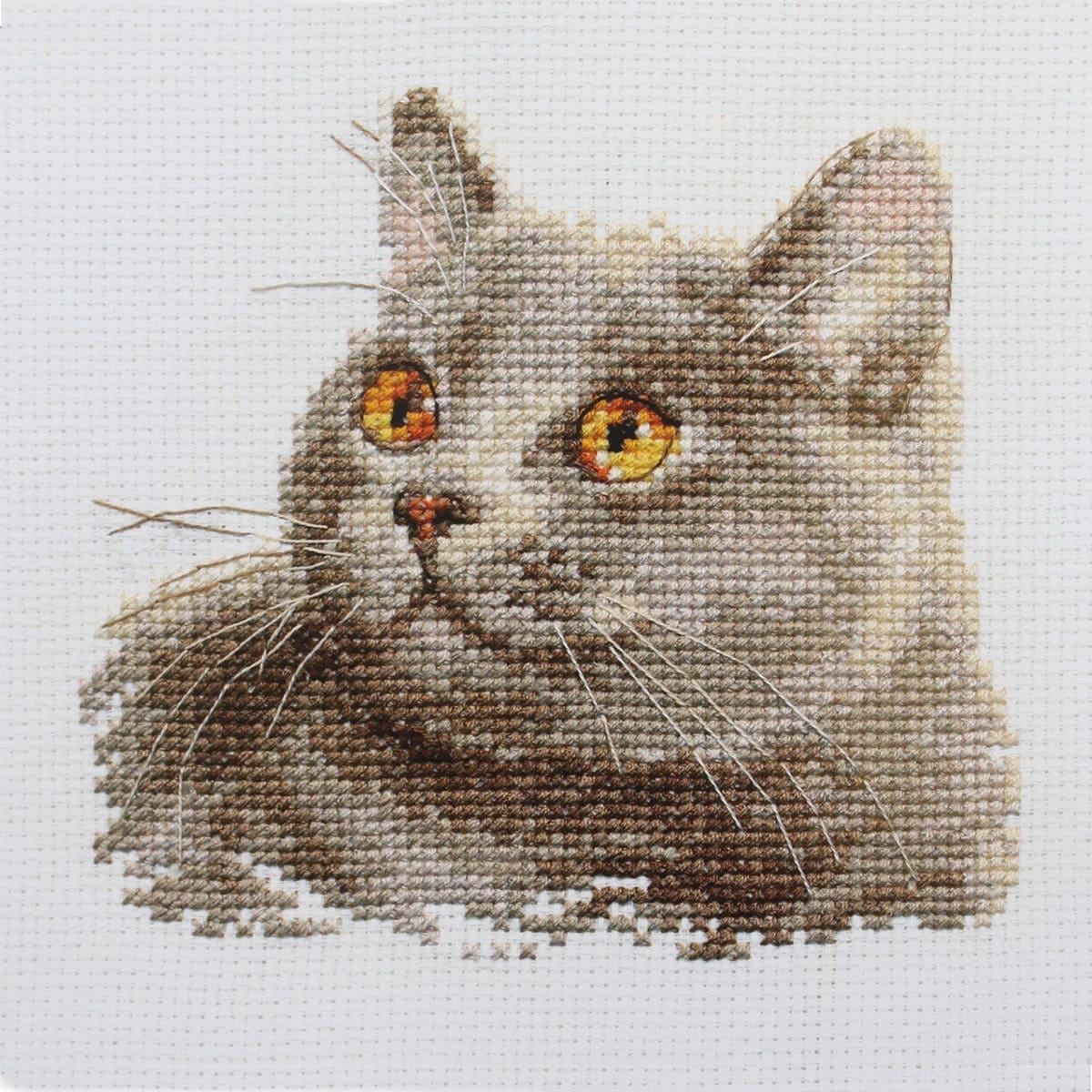 0-134 Набор для вышивания АЛИСА 'Британский кот' 12*11см
