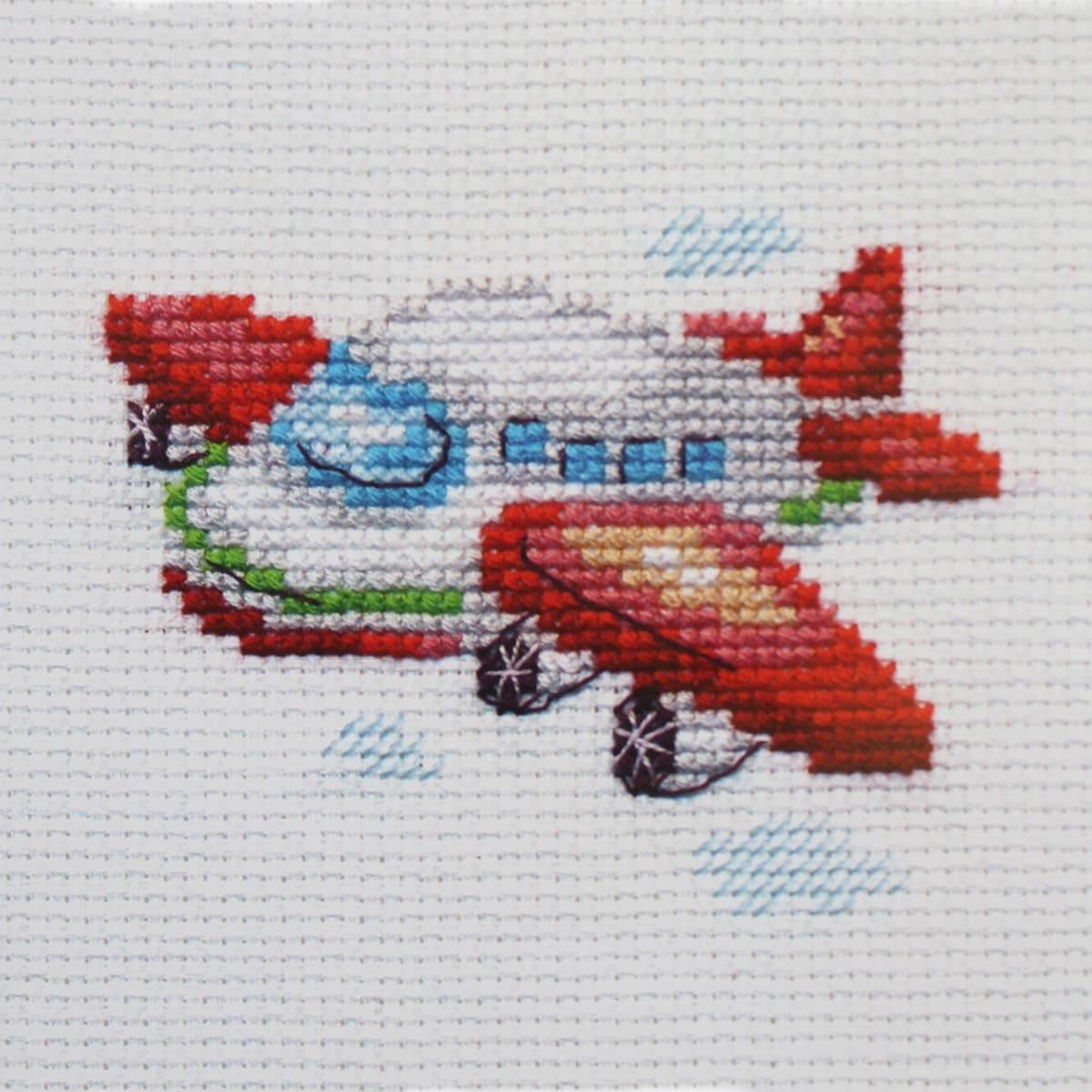 0-160 Набор для вышивания 'Алиса' 'Самолетик', 8*6 см