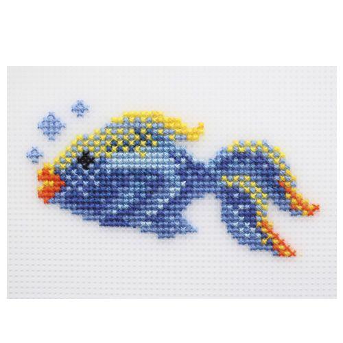 П-0006 Набор для вышивания на пластиковой канве Hobby & Pro Kids 'Рыбка', 11,5*6 см