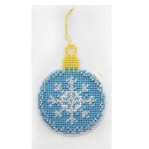 П-0023 Набор для вышивания на пластиковой канве Hobby & Pro Kids 'Шарик синий', 8*10 см