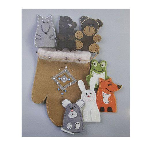 В-159 Набор игрушки из фетра 'Пальчиковые игрушки к сказке Варежка' 20.5x14.5 см Чарівна мить