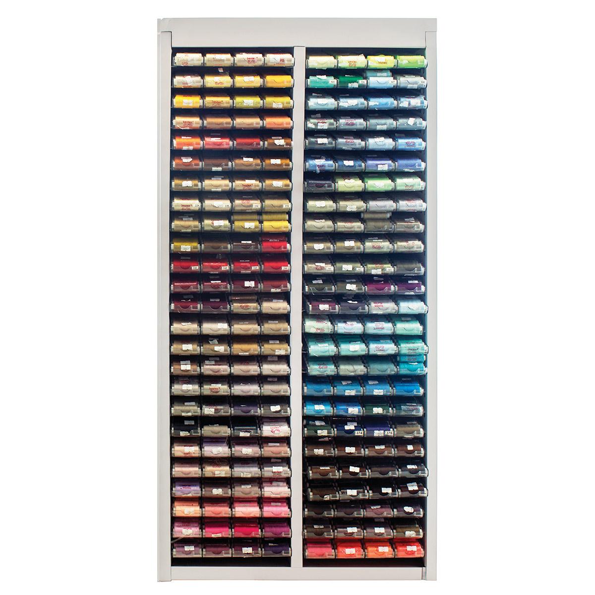 ФХ-100 Стенд для хранения ниток на 200 цветов, 128х61х28 см