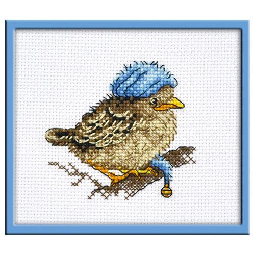 947 Набор для вышивания 'Овен' 'Птенчик Бубенчик', 9*8 см