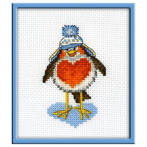 948 Набор для вышивания 'Овен' 'Влюбленный птиц', 6*9 см