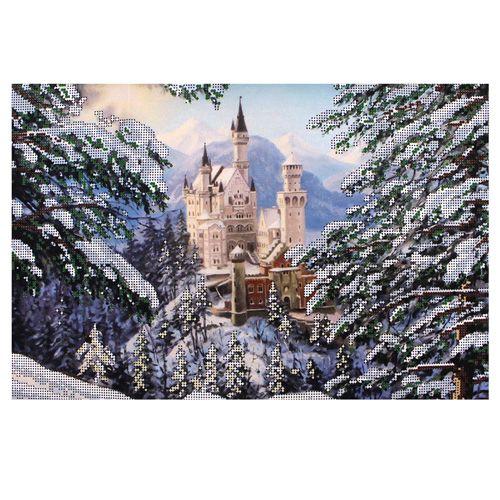 БН-3205 Набор для вышивания бисером Hobby&Pro 'Зимний замок' 40*26см