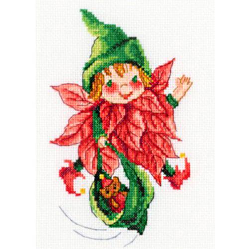С271 Набор для вышивания RТО 'Рождественский эльфик', 11*18 см