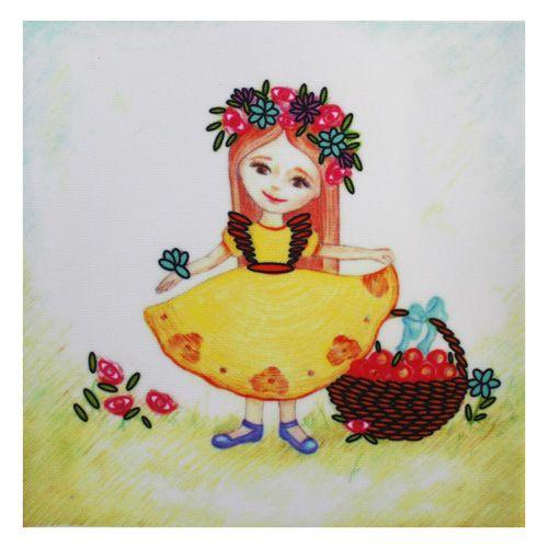 ВЛДС0001 Набор для вышивания лентами Woman-Hobby 'Серия Девочки №1', 13,5*13,5 см