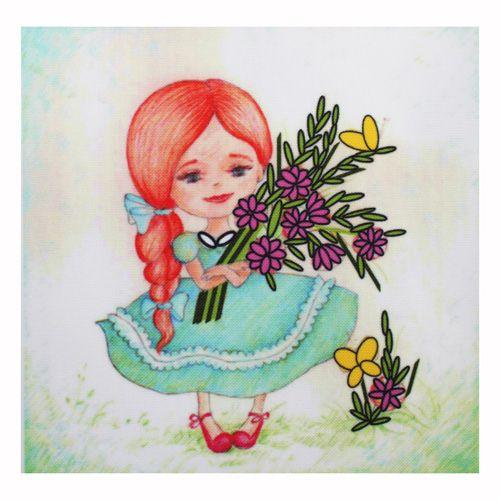 ВЛДС0002 Набор для вышивания лентами Woman-Hobby 'Серия Девочки №2', 13,5*13,5 см