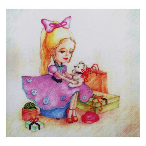 ВЛДС0004 Набор для вышивания лентами Woman-Hobby 'Серия Девочки №4', 13,5*13,5 см