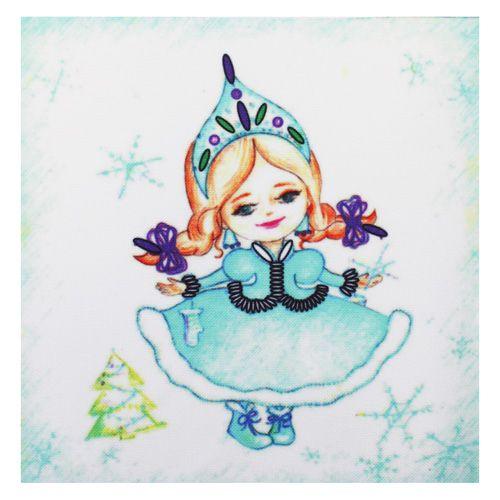 ВЛДС0006 Набор для вышивания лентами Woman-Hobby 'Серия Девочки №6', 13,5*13,5 см