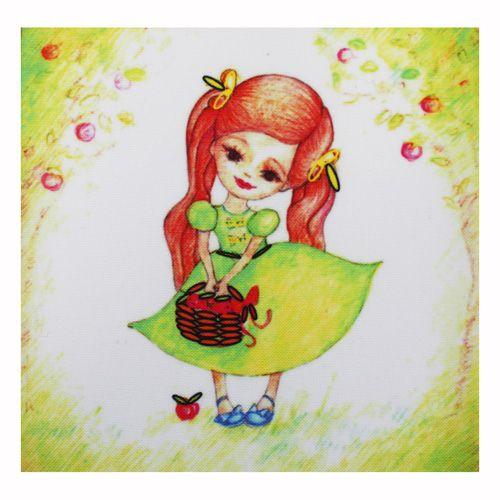ВЛДС0007 Набор для вышивания лентами Woman-Hobby 'Серия Девочки №7', 13,5*13,5 см