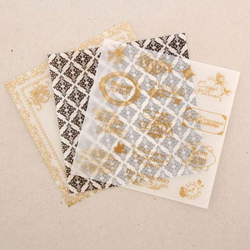 1207645 Набор кальки декоративной для скрапбукинга 'От всей души' 14,5 х 14,5 см