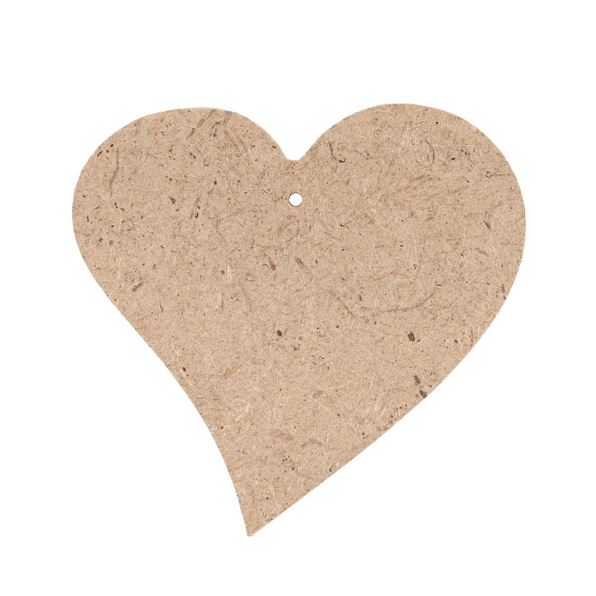 AH6150002 Заготовка из МДФ Подвеска 'Сердце фигурное' 9,5х9,5х0,4см
