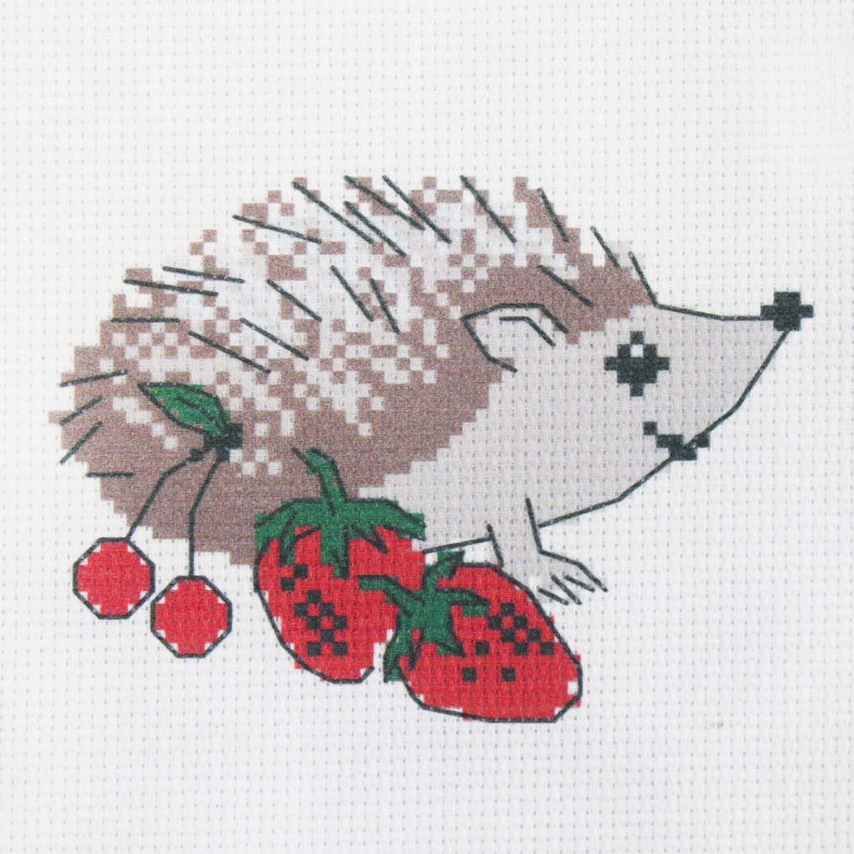 203 Набор для вышивания Василиса 'Ежик с ягодами' 19*19см