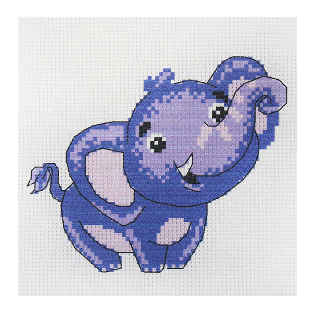 209 Набор для вышивания Василиса 'Слоненок' 19*19см
