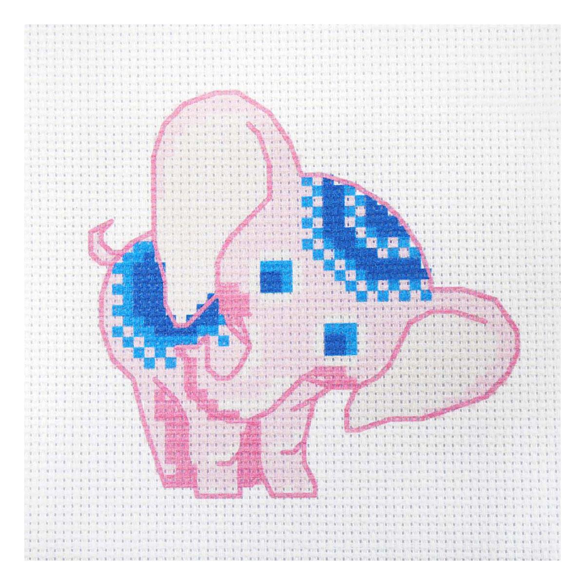 220 Набор для вышивания Василиса 'Розовый слоненок' 19*19см
