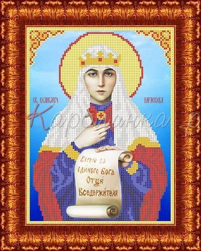 КБИ-4100 Канва с рисунком для бисера 'Св. Параскеева Пятница', А4