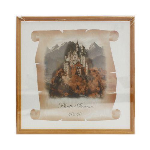 2N66 Рамка деревянная со стеклом 40*40/10, цв.клен