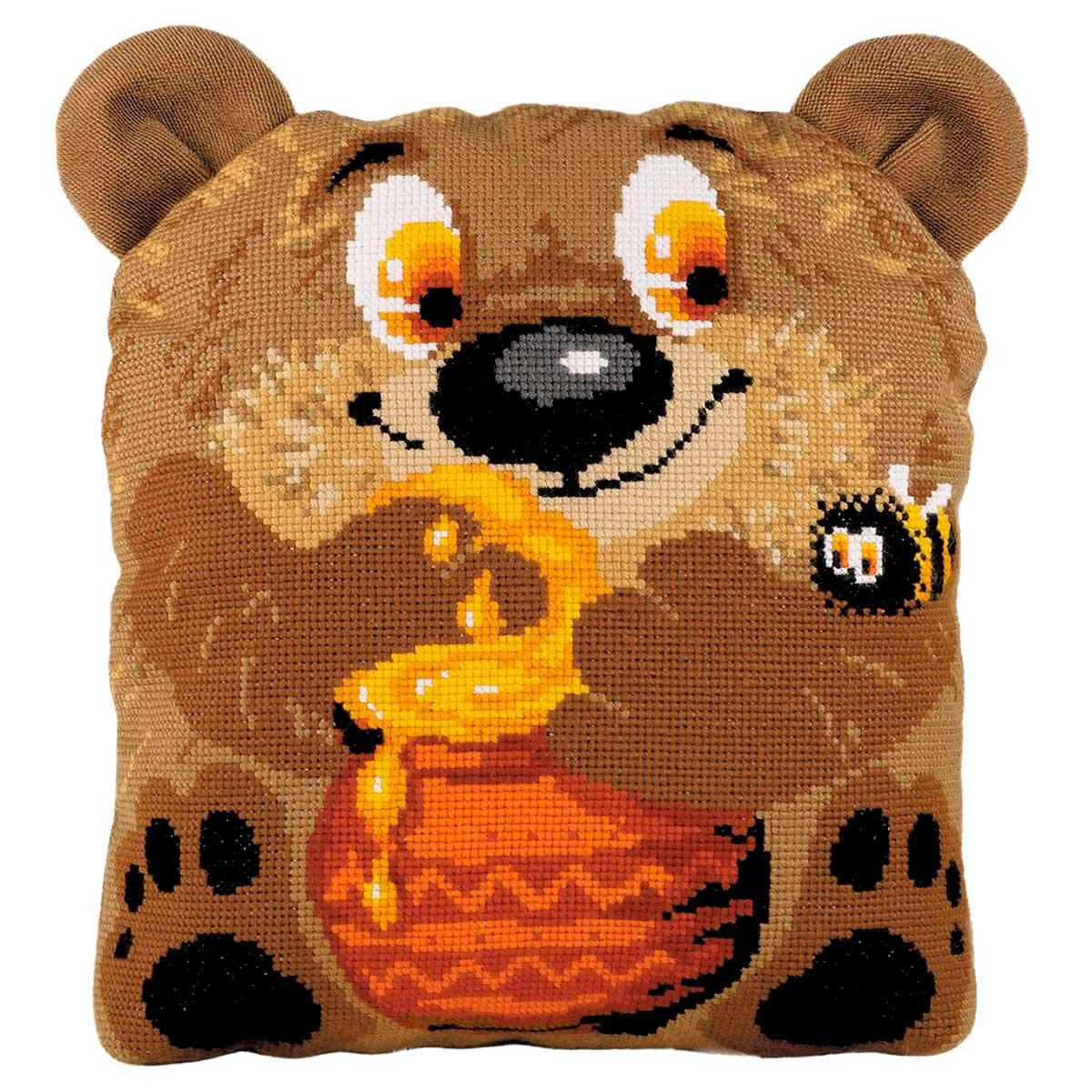 1590 Набор для вышивания Риолис 'Подушка/панно 'Подушка 'Медвежонок' 30*35см
