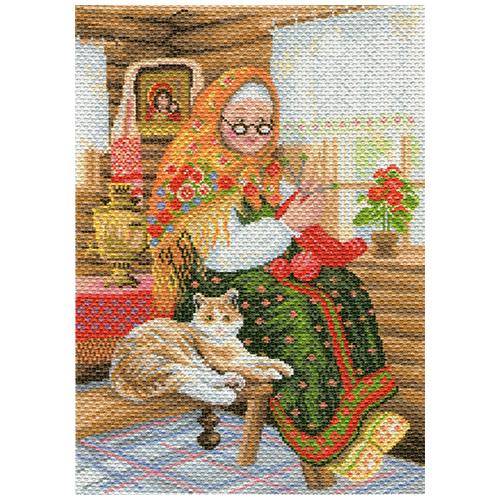 1770 Канва с рисунком Матренин посад 'Бабушкина радость' 28*39см (37*49см)