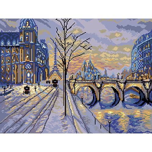 1850 Набор для вышивания Матренин Посад 'Виды Парижа' 37*49см