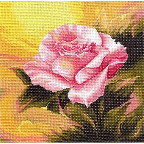 1111 Канва с рисунком Матренин посад 'Розовая прелюдия' 34*34см (41*41см)