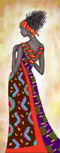 4190 Рисунок на шелке Матренин посад 'Кения' 15*38см (24*47см)
