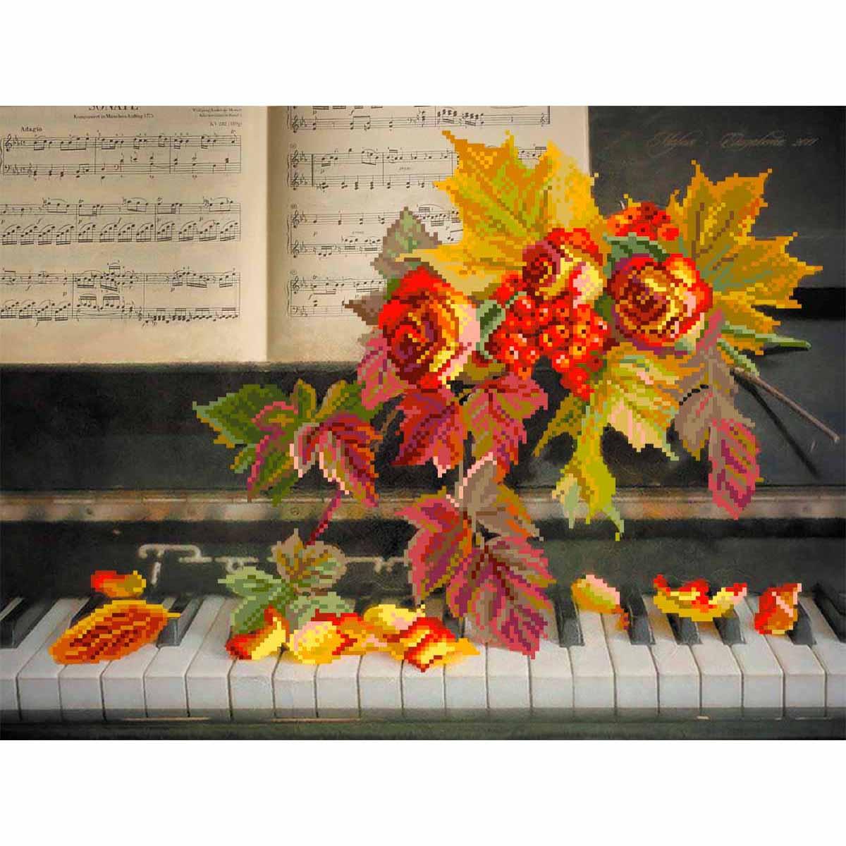 4168 Рисунок на шелке Матренин посад 'Музыка роз' 30*40см (37*49см)