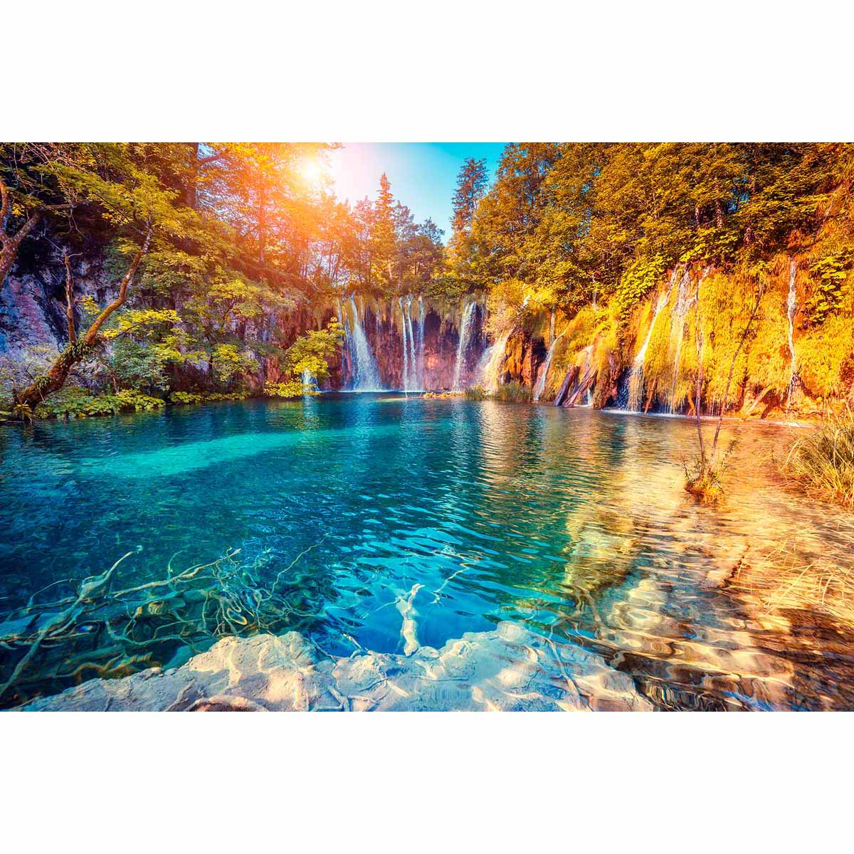 4220 Рисунок на шелке Матренин посад 'Танец водопадов' 27*40см (37*49см)