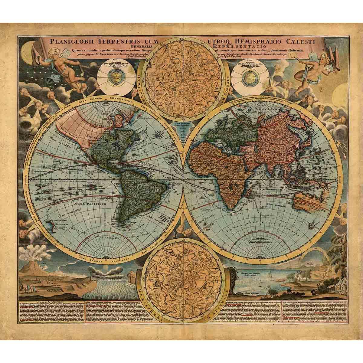4223 Рисунок на шелке Матренин посад 'Карта 18 века' 28*37см (37*49см)