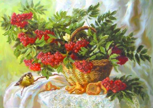 10000 Рисунок на шелке Матренин посад 'Дары осеннего леса' 27*39см (37*49см)