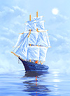 4055 Рисунок на шелке Матренин посад 'Морской бриз' 33*45см (37*49см