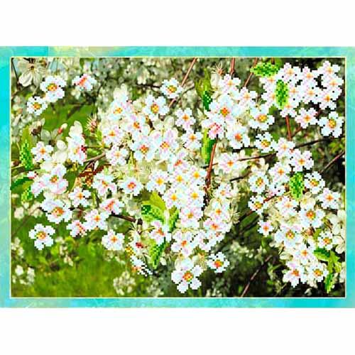 4092 Рисунок на шелке Матренин посад 'Цветущая вишня' 33*45см (37*49см)