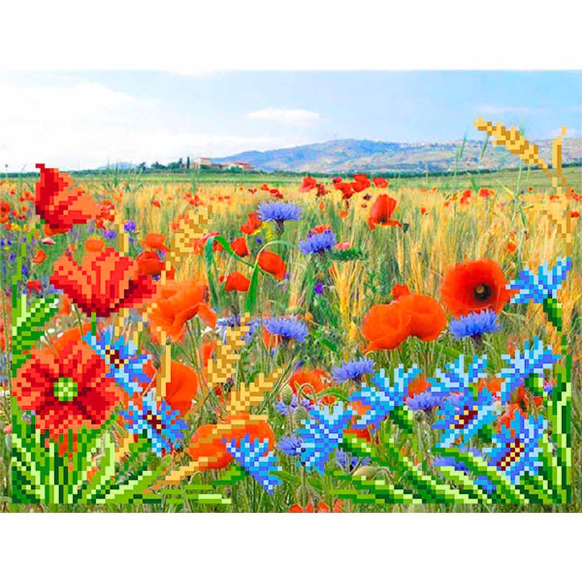 4121 Рисунок на шелке Матренин посад 'Полевые цветы' 24*30см (28*34см)