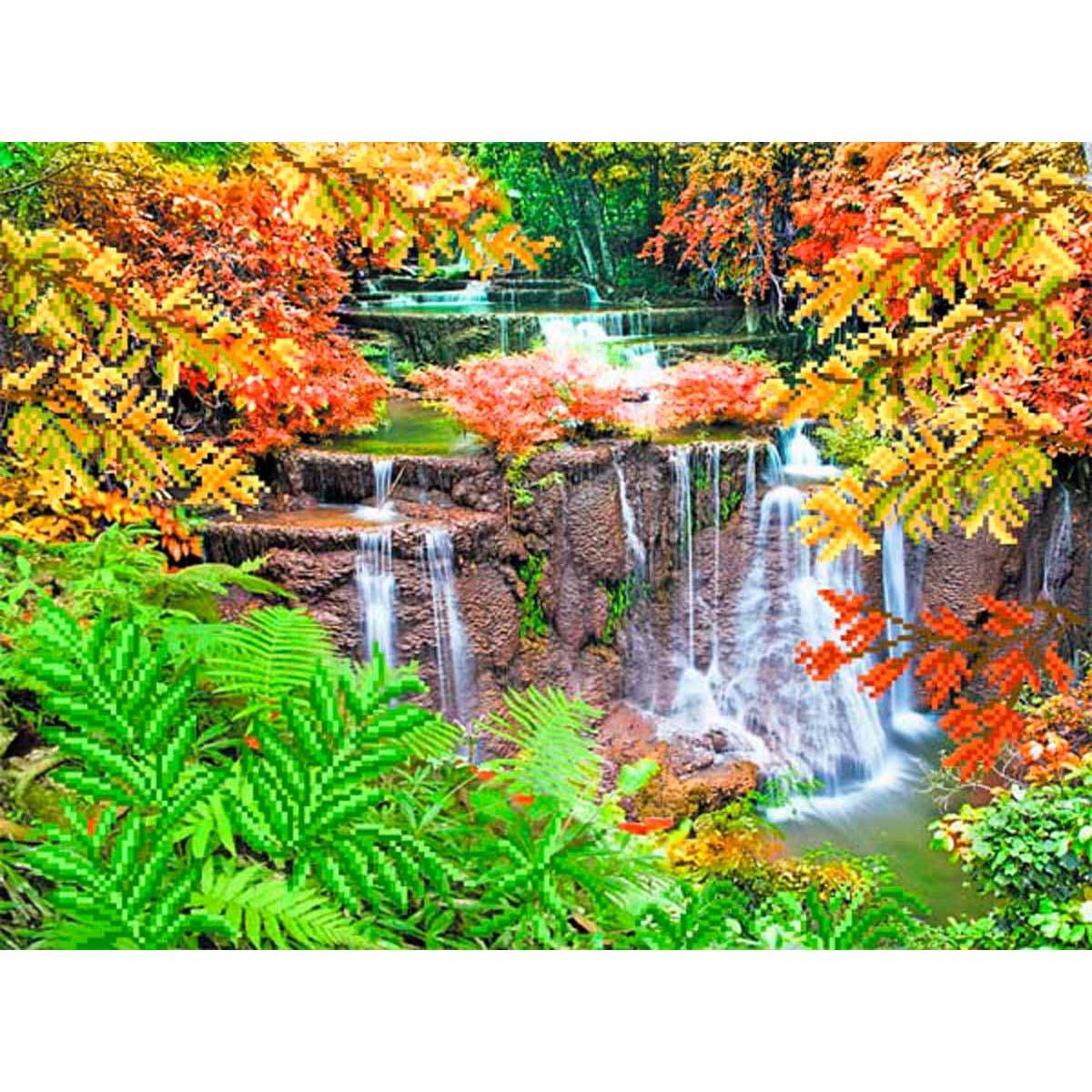 4126 Рисунок на шелке Матренин посад 'Все краски осени' 33*45см (37*49см)