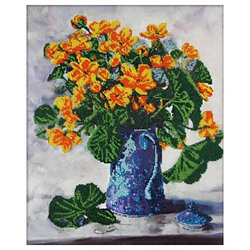 60011 Набор для вышивания бисером Astrea 'Желтые цветы' 40х34см фото