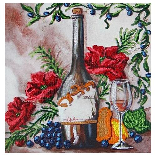 60100 Набор для вышивания бисером Astrea 'Вино 1' 40х40см