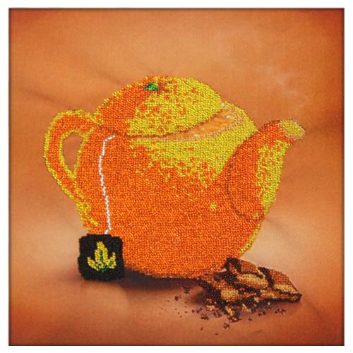 60102 Набор для вышивания бисером Astrea 'Апельсиновый чай' 30х30см