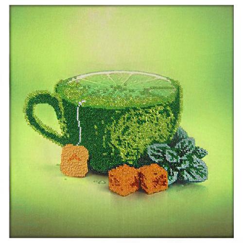 60105 Набор для вышивания бисером Astrea 'Лимонный чай' 30х30см