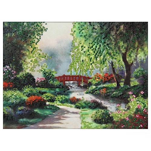 61009 Набор для вышивания бисером Astrea 'Мостик в парке' 30х23см