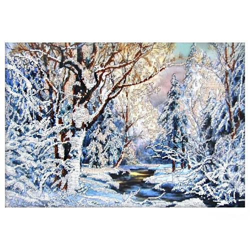 61020 Набор для вышивания бисером Astrea 'Зима в лесу' 40х28см