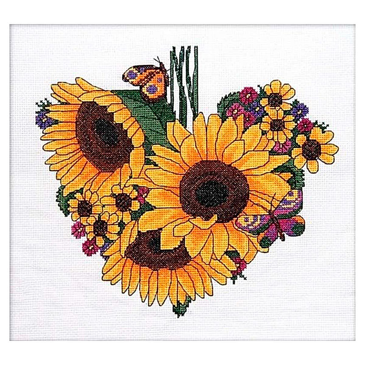 013 Набор для вышивания крестом Astrea 'Подсолнечное сердце. Сентябрь' 25х23см
