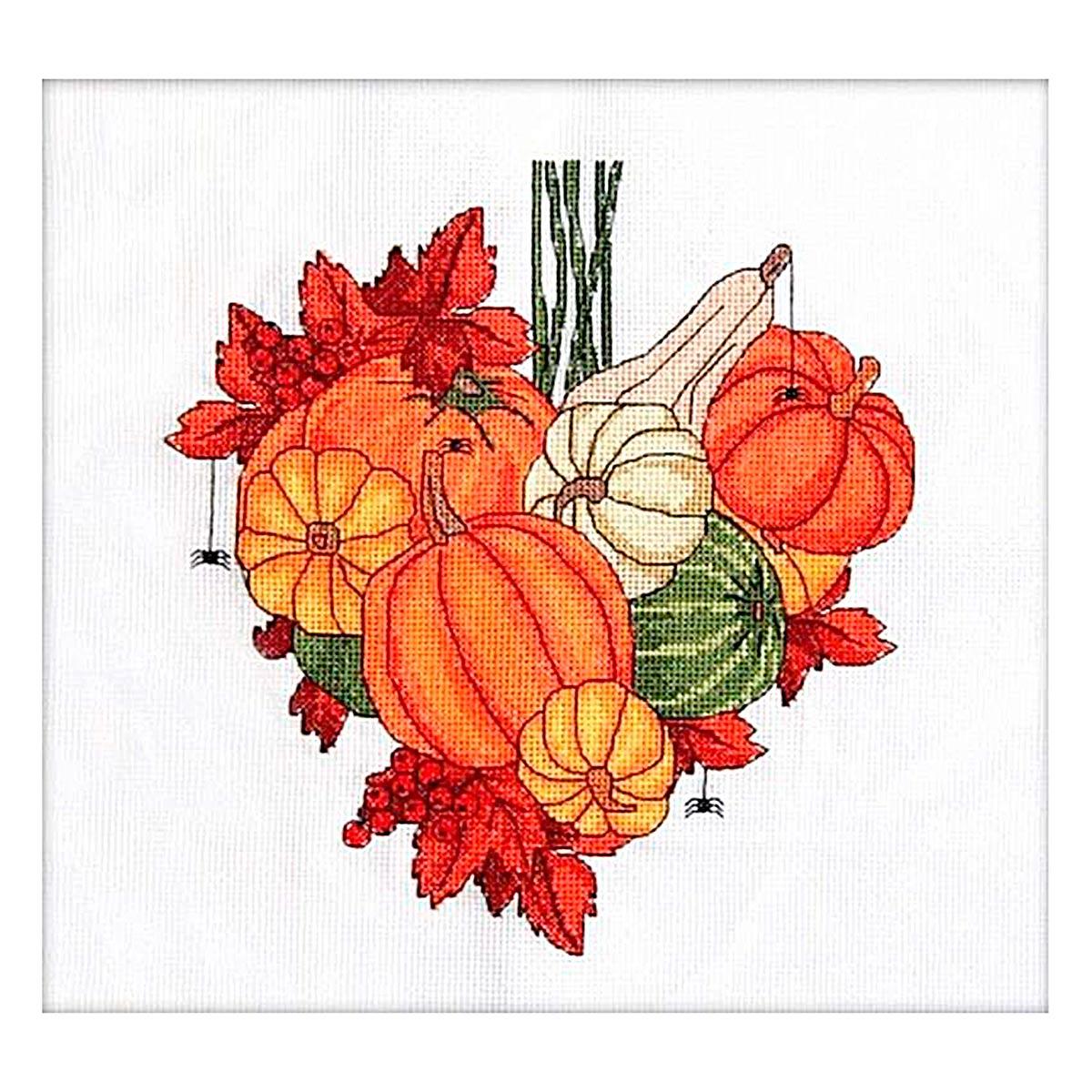 015 Набор для вышивания крестом Astrea 'Тыквенное сердце. Ноябрь' 22х24см