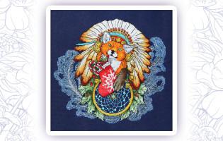 403 Набор для вышивания крестом Gluriya 'Ловец снов-Лис 2' 26х24см
